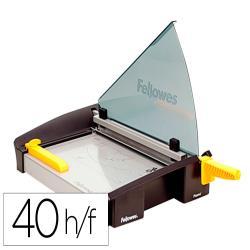 Cizalla de palanca fellowes plasma a4 metalica hasta 40 hojas 80 gr