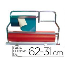 Portarrollo mostrador corta papel pintado para bobinas de 62-31