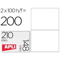 Etiqueta adhesiva apli 1264 tamaño 210x148 mm -fotocopiadora