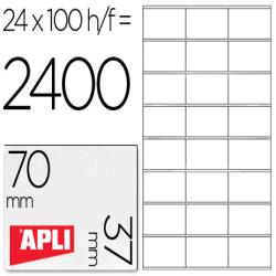 Etiqueta adhesiva apli 1273 tamaño 70x37 mm fotocopiadora laser