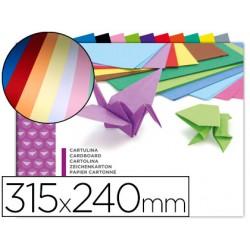 Bloc trabajos manuales cartulina 240x315mm 10 hojas colores