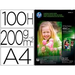 Papel hp photo semi-glossy 200g/m2 din a4 100h 39833-Q2510A