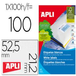 Etiqueta adhesiva apli 1284 tamaño 52,5 x 21,2 mm para