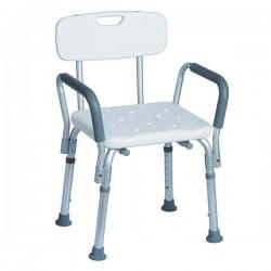 Chaise de douche en aluminium | Pointes anti-dérapantes