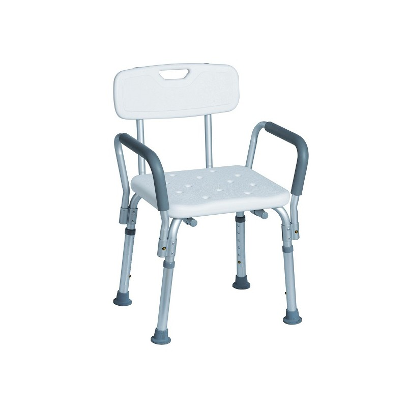Aluminum shower chair | Adjustable in height Anti-skid tips