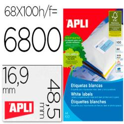 Etiquetas adhesivas apli 01282 tamaño 48,5x16,9 mm para
