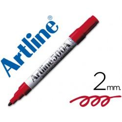 Rotulador artline pizarra ek-500 rojo punta redonda 2 mm