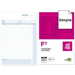 Talonario liderpapel facturas folio -con iva- 123 7779-T123