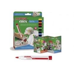 Rotulador alpino crea textil caja de 10 colores 79239-AR000132