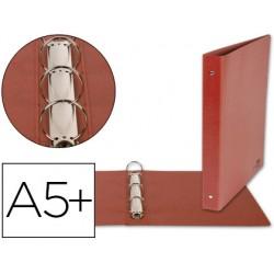Carpeta de 4 anillas 25mm redondas liderpapel cuarto carton