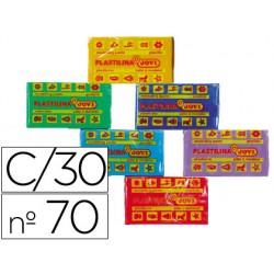 Plastilina jovi 70 surtida -tamaño pequeño -caja de 30 unidades
