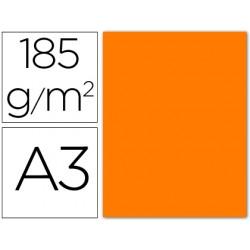 Cartulina guarro din a3 naranja fluorescente 185 gr paquete 50
