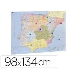 Mapa mural faibo españa y portugal autonomico plastificiado