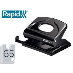 Taladrador rapid fmc20 metalico color negro capacidad 20 hojas