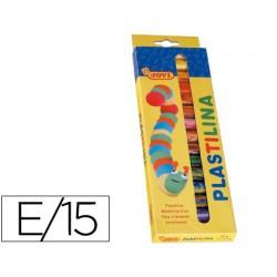 Plastilina jovi -estuche de 15 barras 6198-90/15