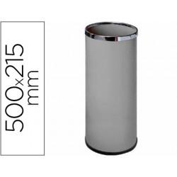 Paraguero metalico 301 gris medida 50x21,5 -aros cromo