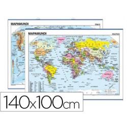 Mapa mural mundi planisferio -140 x 100 cm 4914-6108.5