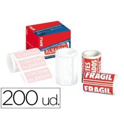 Etiquetas apli fragil 50x100 mm rollo con 200 unidades 71938-296