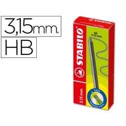 Minas stabilo easy ergo grafito hb de 3,15 mm -cajita de 6