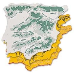 Plantilla plastico mapa españa -bolsa de 3 22x18 cm 4915-152218