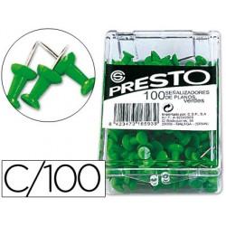 Señalizador de planos presto verde -caja de 100 unidades