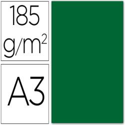 Cartulina guarro din a3 verde abeto 185 gr paquete 50 h
