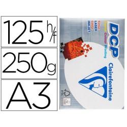 Papel fotocopiadora clairefontaine din a3 250 gramos paquete de