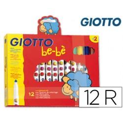 Rotulador giotto super bebe caja de 12 colores surtidos
