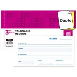 Talonario liderpapel recibos 3/fº original y copia t236 sin