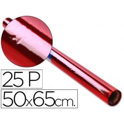 Papel celofan rollo trepado rojo -25 hojas de 50x65 cm