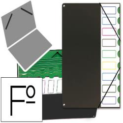 Carpeta clasificador tapa de plastico pardo folio -9