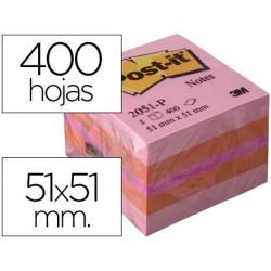 Bloc de notas adhesivas quita y pon post-it 51x51 mm minicubo