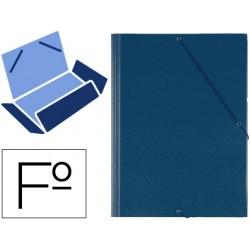 Carpeta gomas solapas plastico saro folio azul 22854-321G-A
