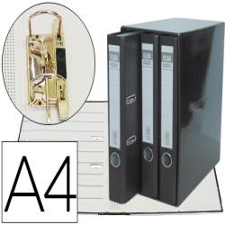 Modulo elba 3 archivadores de palanca din a4 2 anillas negro