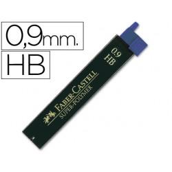 Minas faber grafito 9069 0,9 mm hb -estuche de 12 minas