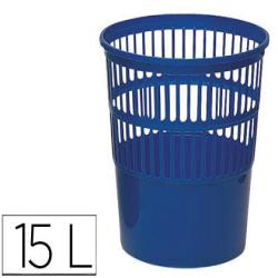 Papelera plastico 119 azul medida 27.5x27.5 cm 20344-119-AZ