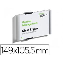 Identificador portanombre durable aluminio placa acrilica