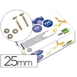Encuadernadores liderpapel 25 mm con arandela -latonados -caja