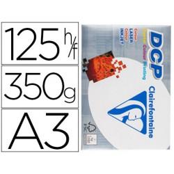 Papel fotocopiadora clairefontaine din a3 350 gramos paquete de