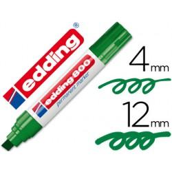 Rotulador edding marcador permanente 800 verde -punta biselada