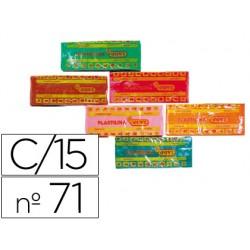 Plastilina jovi 71 surtida -tamaño mediano -caja de 15 unidades