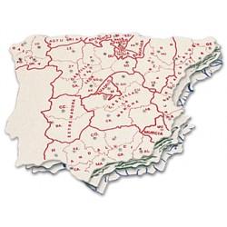 Plantilla plastico mapa españa -bolsa de 3 15x12,5 cm