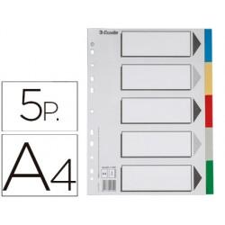 Separador esselte plastico juego de 5 separadores din a4 con 5