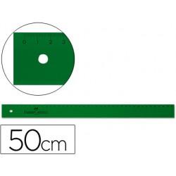 Regla faber 50 cm plastico verde 6990-815