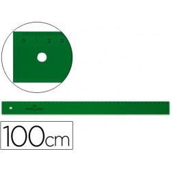 Regla faber 100 cm plastico verde 6985-820
