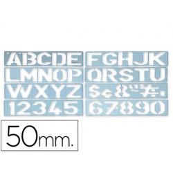 Plantilla rotulacion 1700 -letras y numeros de 50 mm 17905-1700