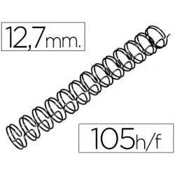 Espiral wire 3:1 12,7 mm n.8 negro capacidad 105 hojas caja de