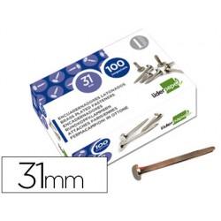 Encuadernadores liderpapel n.4 22 mm -caja de 100 niquelados