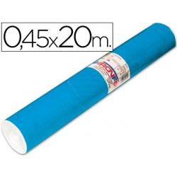 Rollo adhesivo aironfix unicolor azul mate medio 67014-rollo de