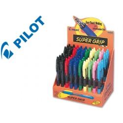 Boligrafo pilot super grip -expositor de 60 unidades